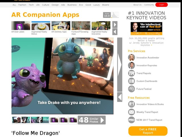 AR Companion Apps - 'Follow Me Dragon' Makes It Possible to Interact with a Mythical Creature (TrendHunter.com)