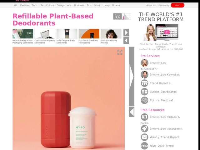 Refillable Plant-Based Deodorants - Myro's Free-From Product