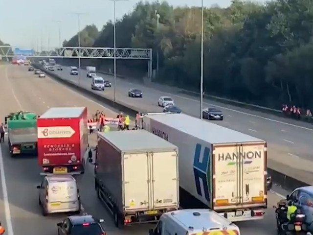 'Risking lives' - Thirty-eight arrested as protesters block M25 for fifth time