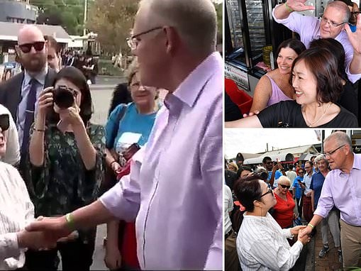 Scott Morrison says 'ni hao' to voter who replied 'I'm Korean' in hilarious election gaffe