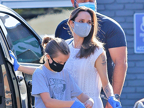 Angelina Jolie Takes Daughter Vivienne, 11, Out Shopping After Recent Visit From Brad Pitt