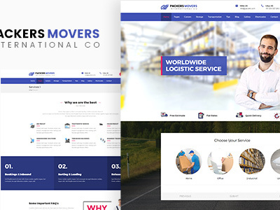 Packers & Movers | Domestic Logistics WordPress Theme (Business)