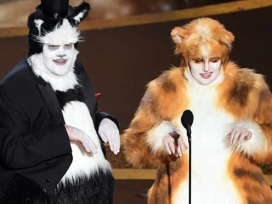 Oscars 2020: James Corden and Rebel Wilson Poke Fun at 'Cats'