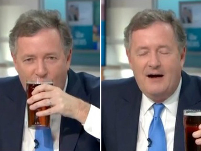 Piers Morgan hit by Ofcom complaints after drinking a pint on TV at 6.42am after slamming viewers as 'knobs'