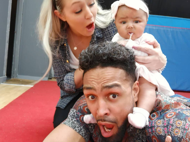 Ashley Banjo's baby is sick on his head as proud dad reveals hilarious Instagram to reality shots