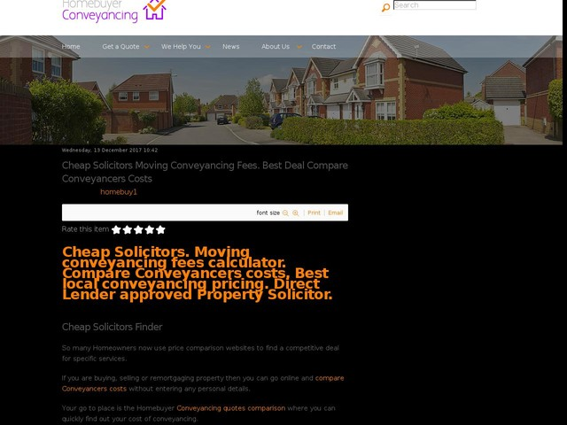 Cheap Solicitors Moving Conveyancing Fees. Best Deal Compare Conveyancers Costs