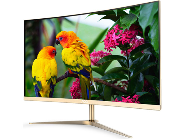 "AOC's Entry-Level C2789FH8 27"" Display Weds Gold, Bling, and Curvature"