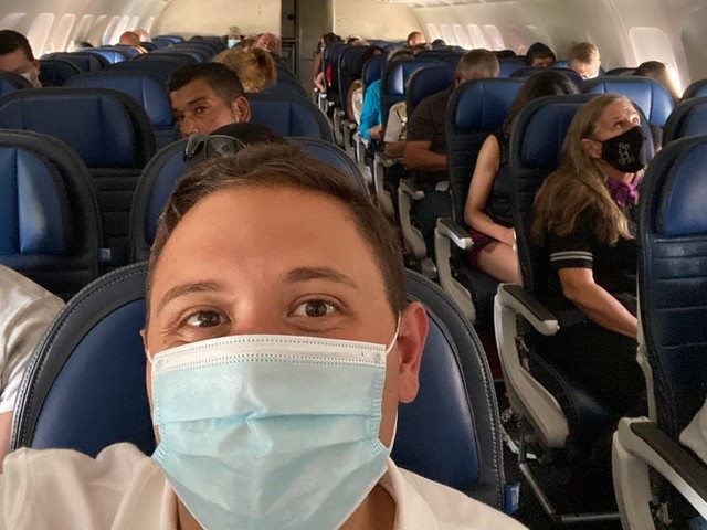 I flew on 7 flights with the largest US airlines in June. Here's what surprised me the most about flying during the pandemic.