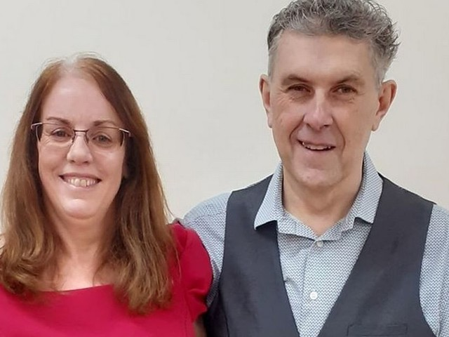 Couple shed more than seven stone between after wake-up call following crash
