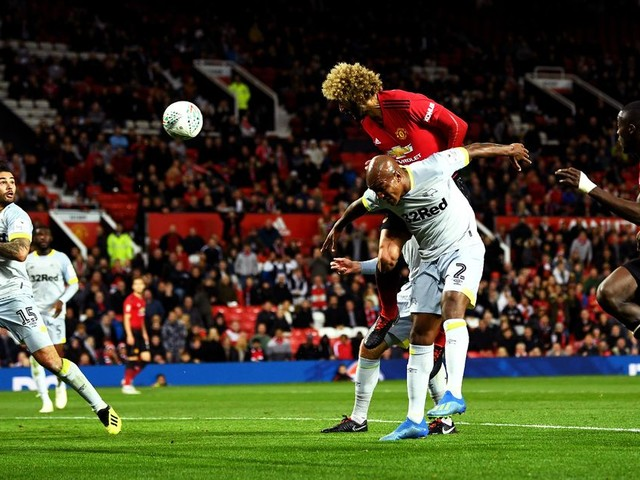 Manchester United fans noticed the same thing about Marouane Fellaini's late equaliser against Derby