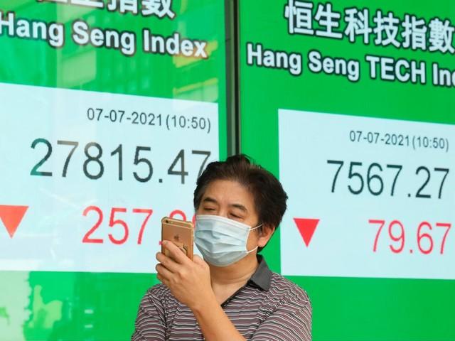 Asian stocks follow Wall St lower on weak US services data