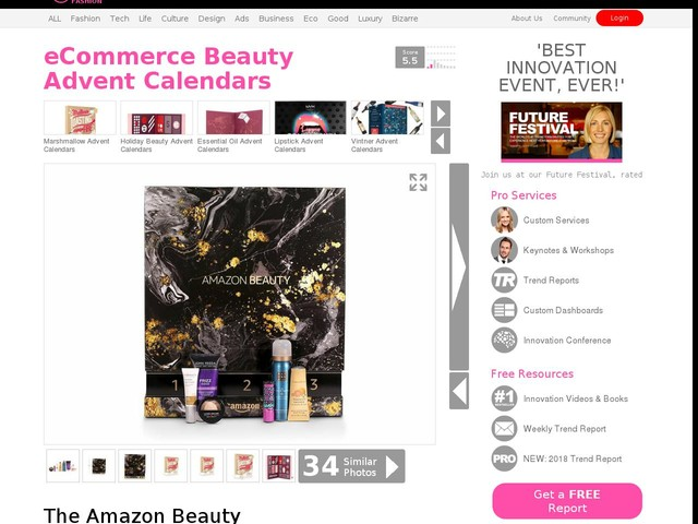 eCommerce Beauty Advent Calendars - The Amazon Beauty Advent Calendar Contains Top-Selling Products (TrendHunter.com)