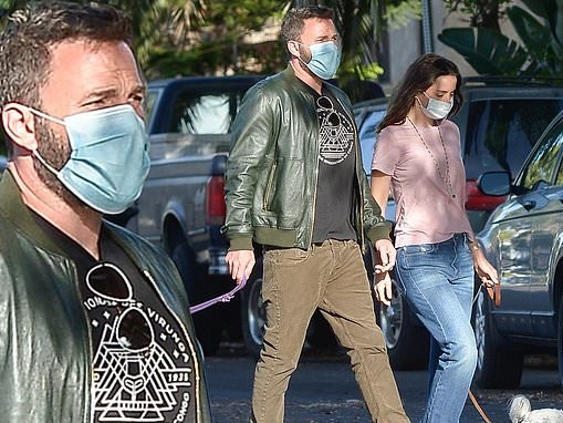 Ben Affleck and Ana de Armas look like quite the pair as they take their pooches on a stroll