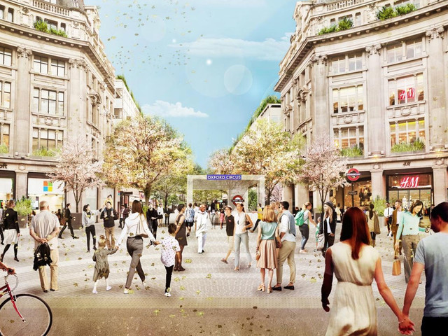 Oxford Circus is to be part-pedestrianised