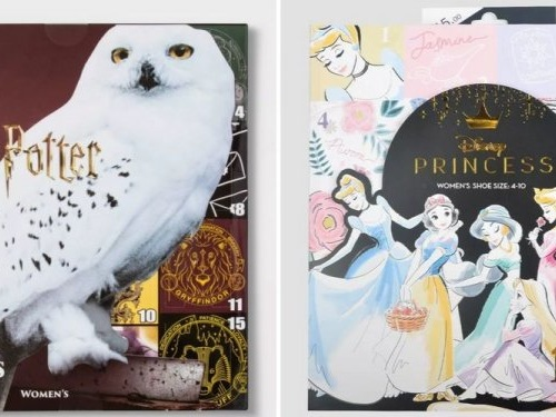Target is selling $15 sock advent calendars that range in themes from 'Harry Potter' to Disney princesses