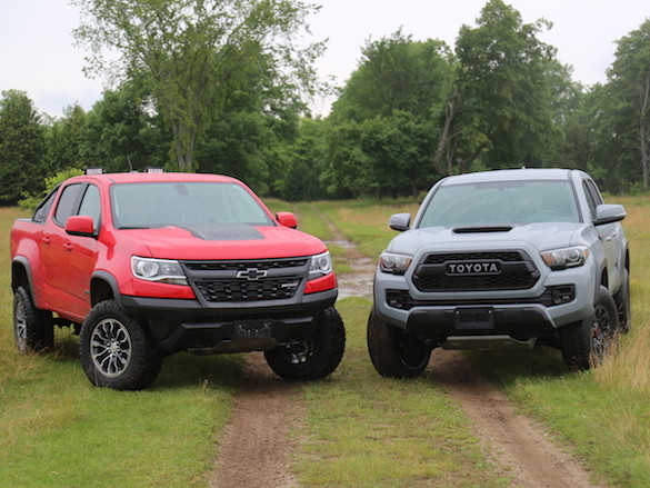 In an Off-road Battle, Which Midsize Pickup Wins – Chevrolet Colorado ZR2 or Toyota Tacoma TRD Pro?