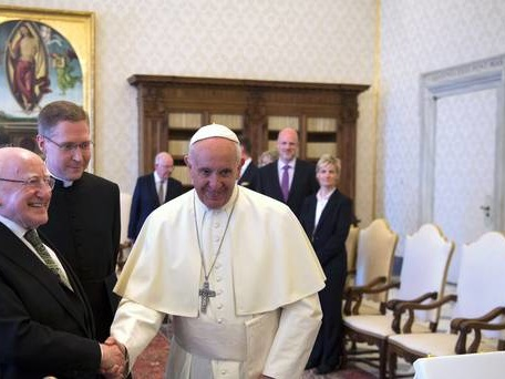 President joins Pope Francis in call for 'outcomes and action'