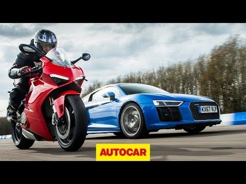 Video Audi R8 Vs Ducati Panigale V4 Superbike Drag Race Motors
