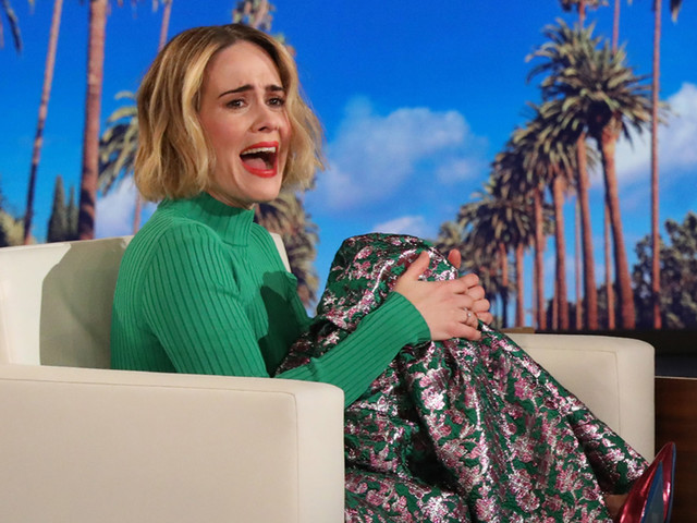 Sarah Paulson Gets Scared by Ellen DeGeneres Twice, Fails to Get Revenge (Video)