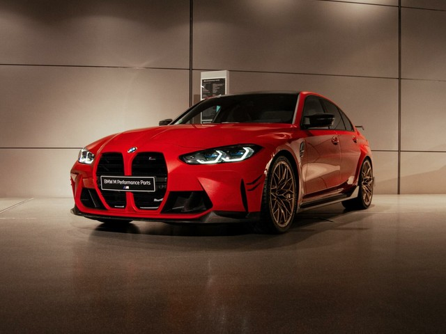 2021 BMW M4 in Toronto Red features the latest M Performance Parts