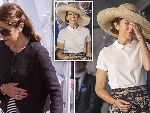 Princess Mary looks weary during two days of royal duties