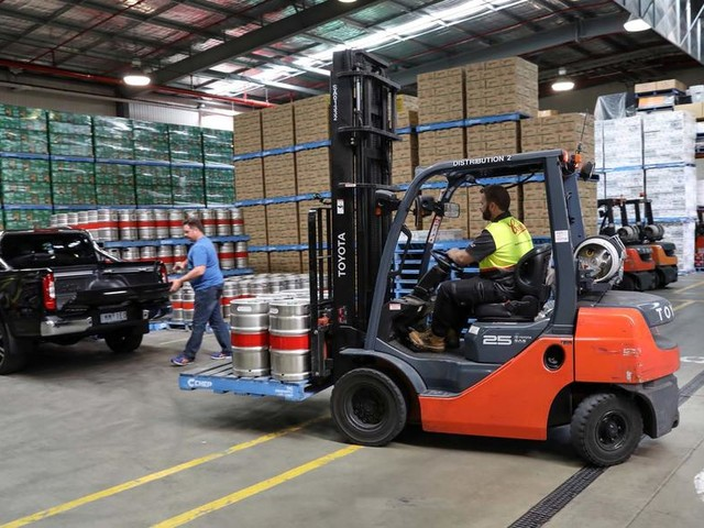XXXX-Class: delivering beer to the Outback in a Mercedes pick-up