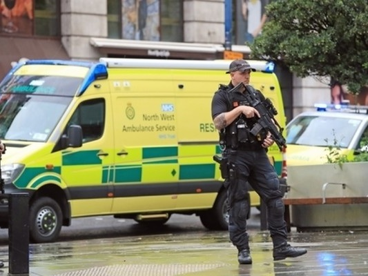 Counter terrorism police investigating after five people stabbed at Manchester shopping centre