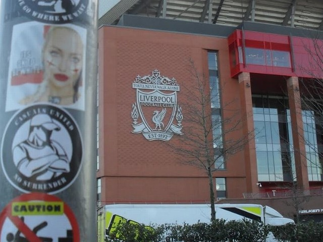 Far right groups spreading messages and trying to recruit at Liverpool and Everton games