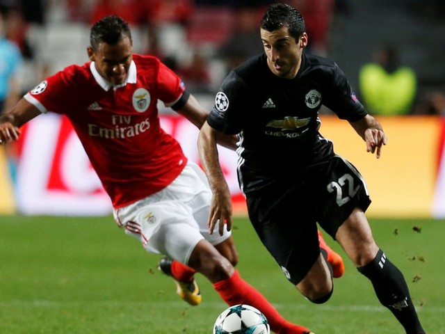 Henrikh Mkhitaryan had a nightmare BEFORE kick-off in Manchester United's clash with Benfica