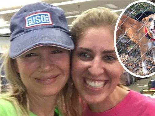 Renee Zellweger Surprises Texas Pet Rescue Organizations By Volunteering For A Whole Week Of Hurricane Harvey Relief!