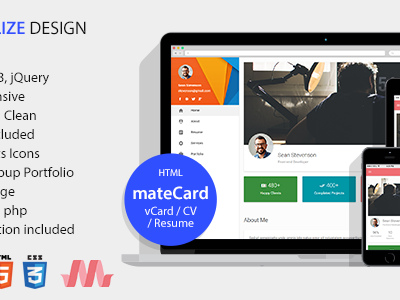 Matecard materialize vcardcvresume html template virtual matecard materialize vcardcvresume html template virtual business card wajeb Images