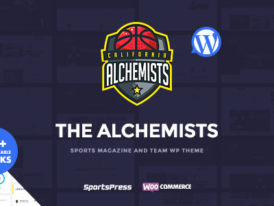 Alchemists - Sports Club and News WordPress Theme (Nonprofit)