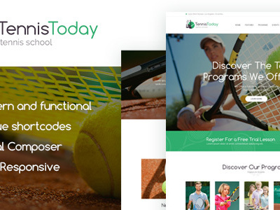 Tennis Today | Sport School & Events Theme (Education)