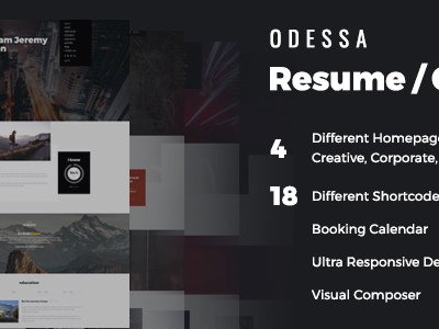 Odessa - Personal Resume WordPress Theme (Personal)