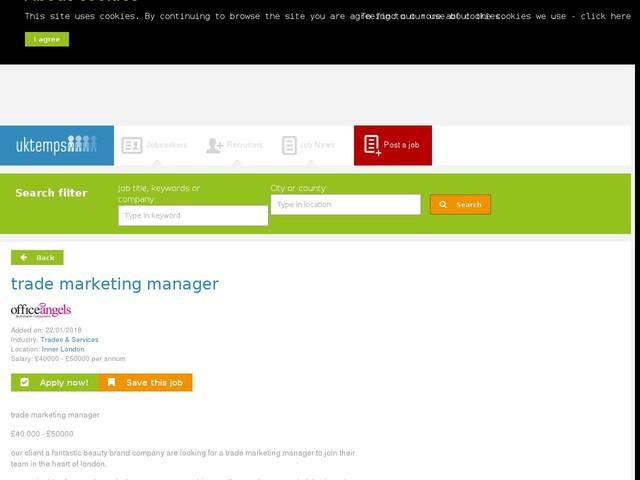 trade marketing manager