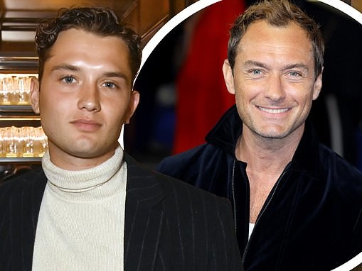 Jude Law's son Rafferty is the spitting image of his father at the Many Saints of Newark screening