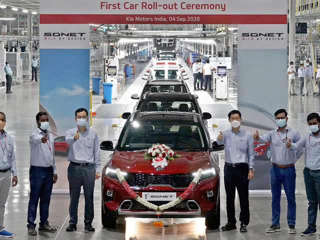 First Kia Sonet customer cars produced at Anantapur plant