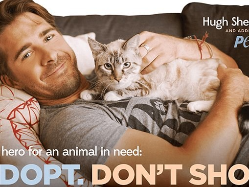 Hugh Sheridan is the latest to join a PETA campaign