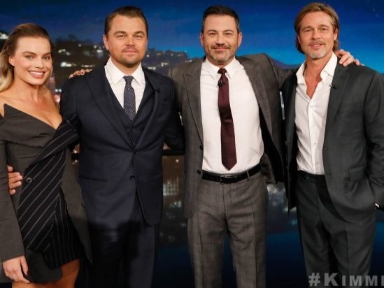 'Once Upon a Time in Hollywood:' Margot Robbie, Brad Pitt, and Leonardo DiCaprio Prank 'Kimmel' on Way to Premiere