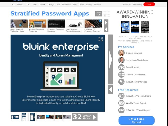 Stratified Password Apps - This Password Management App Offers Multiple Layers Of Protection (TrendHunter.com)