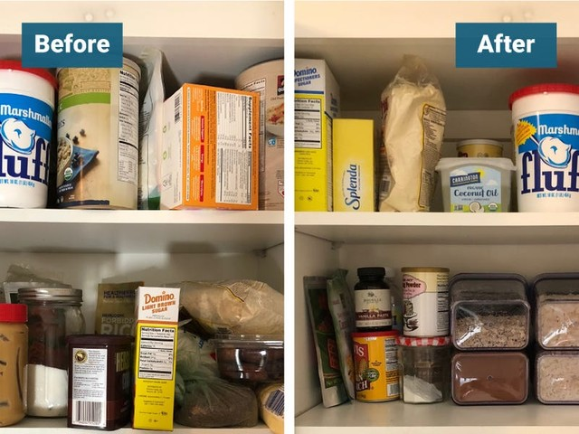 I organized my kitchen pantry with these air-tight storage containers and can finally see everything in my cabinets