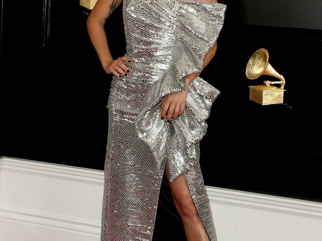 Lady Gaga wore sparkly Celine to the Grammys: actually quite lovely?
