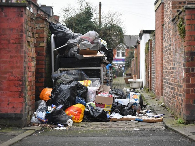 The state of this south Manchester alley is so bad that residents are asking for a council tax refund