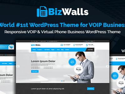 BizWalls | Responsive VOIP & Virtual Phone Business WordPress Theme (Business)
