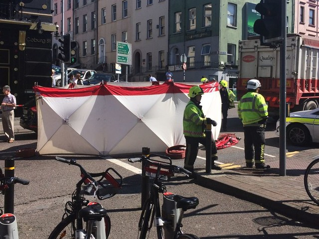 Cork city centre crash claims life of man after he is hit by truck