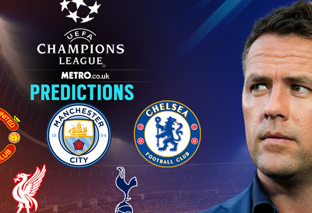 Michael Owen's Champions League predictions, including Liverpool, Man Utd and Chelsea