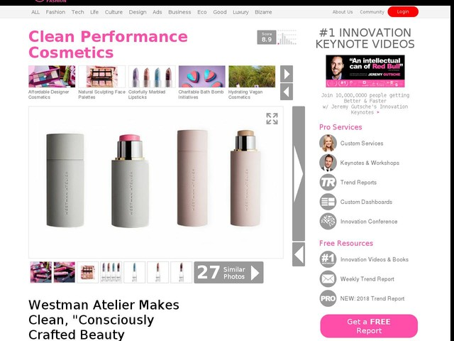 "Clean Performance Cosmetics - Westman Atelier Makes Clean, ""Consciously Crafted Beauty Products"" (TrendHunter.com)"