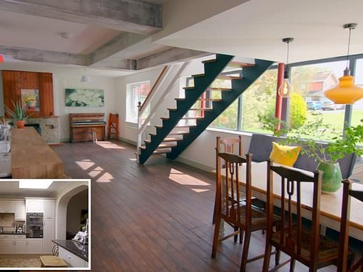 Couple who live in an old fashioned 1960's house transform their living space