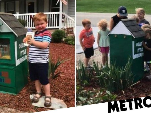 Boy, 5, sets up town's only library and makes huge success of it