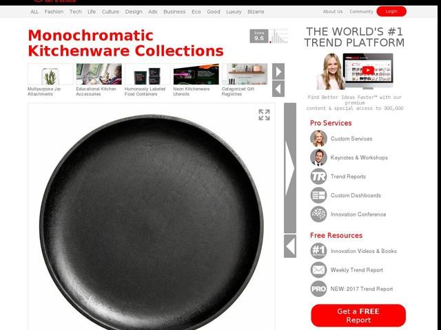 Monochromatic Kitchenware Collections - H&M and Chloe Coscarelli Created Stylish Kitchenware Items (TrendHunter.com)